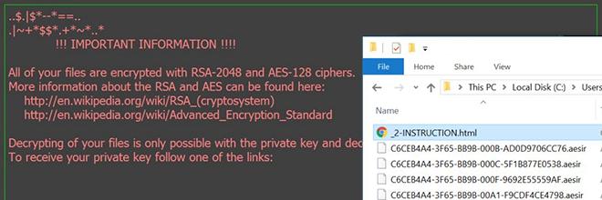 Aesir bestand virus: decoderen en verwijder .aesir extensiebestanden
