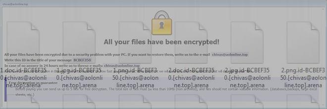 Arena ransomware verwijderen: decodeer met het .arena virus besmette bestanden
