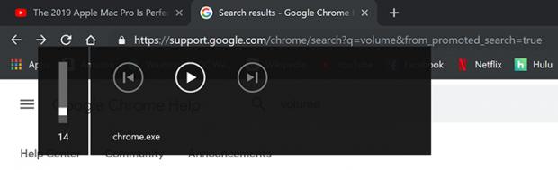 De vervelende chrome.exe volume pop-up in Google Chrome