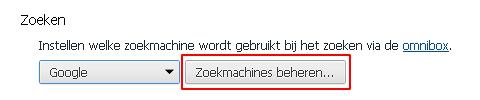 chrome-zoekmachines-beheren