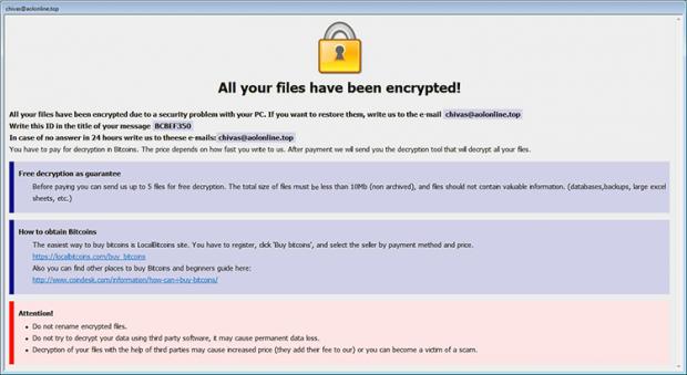Info.hta losgeldbericht door Arena ransomware
