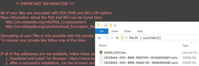 Osiris virus verwijderen: decodeer het .osiris bestand ransomware