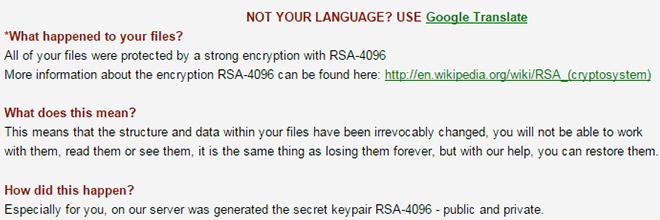 RSA-4096 ransomware virus verwijderen en decoderen
