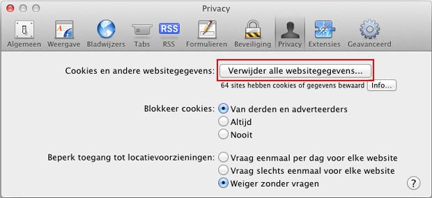 how to clear cookies on macbook safari