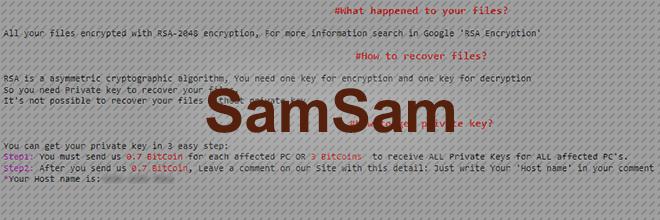 SamSam gijzelsoftware decoderen en verwijderen