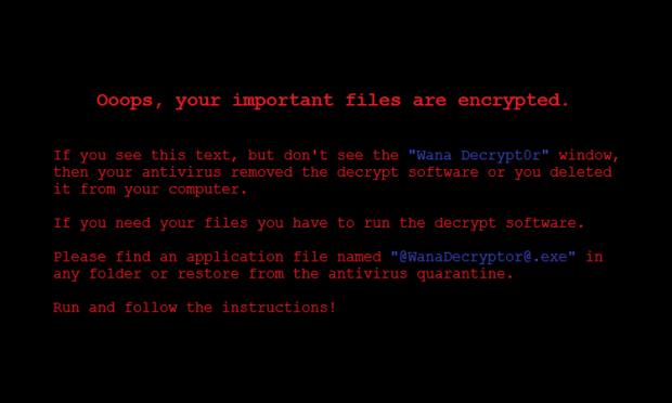 WannaCry bureaubladachtergrond