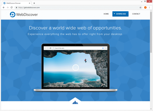 De uitgever van WebDiscover Browser beschrijft de app als het beste